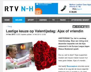 Artikel op RTV Noord Holland naar aanleiding van blog