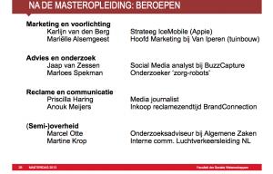 Masterdag Communicatiewetenschap VU Amsterdam
