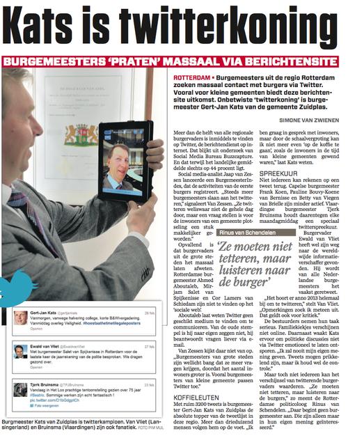 Interview AD Rotterdams DagbladInterview AD Rotterdams Dagblad