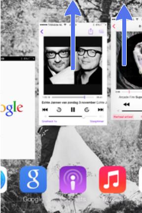 Twee apps tegelijk afsluiten kan zelfs ook!