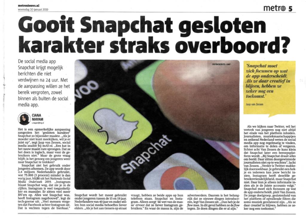 snapchat in nederland social media 2019